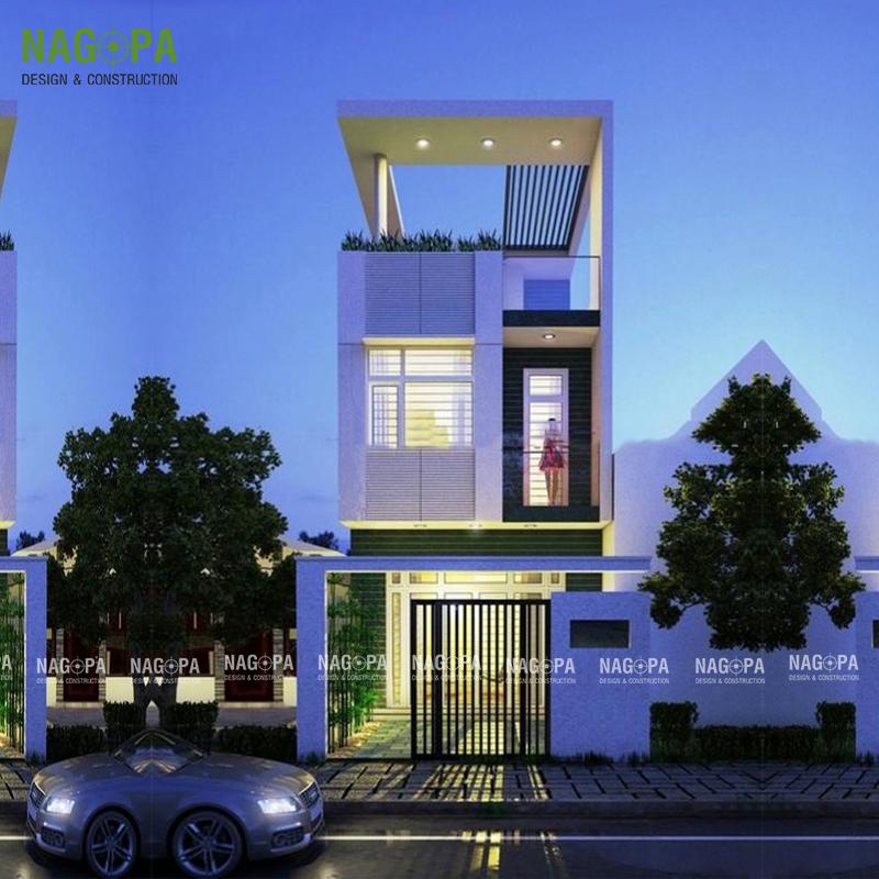 mẫu nhà phố đẹp xây dựng bình phước 06