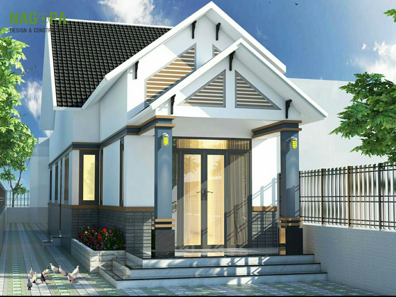 mẫu thiết kế nhà mái thái tại chơn thành  01