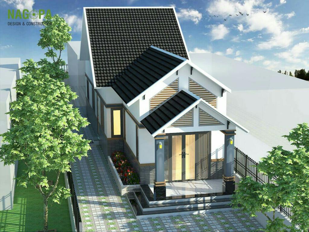 mẫu thiết kế nhà mái thái tại chơn thành 02