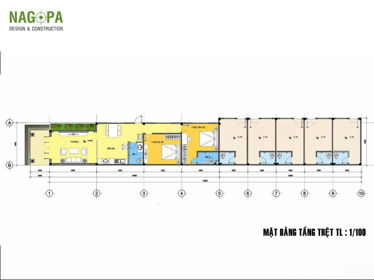 mẫu thiết kế nhà mái thái tại chơn thành 03