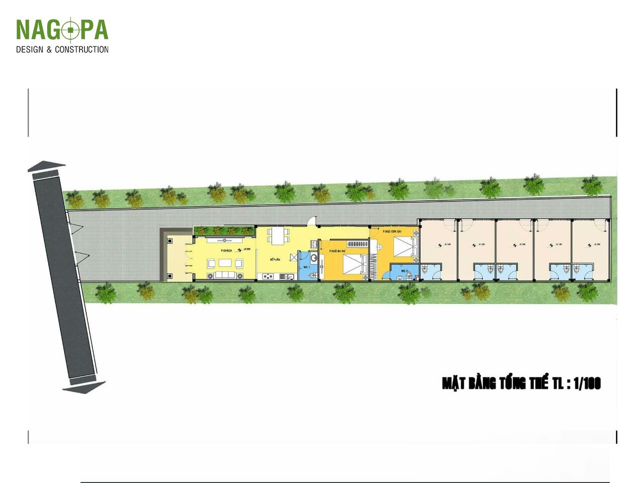 mẫu thiết kế nhà mái thái tại chơn thành 04
