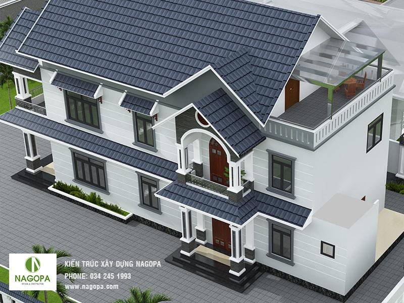 thiết kế nhà biệt thự tại đồng xoài 02