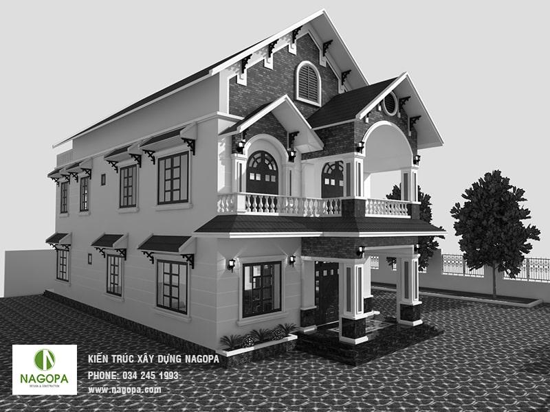 thiết kế nhà biệt thự tại đồng xoài 03