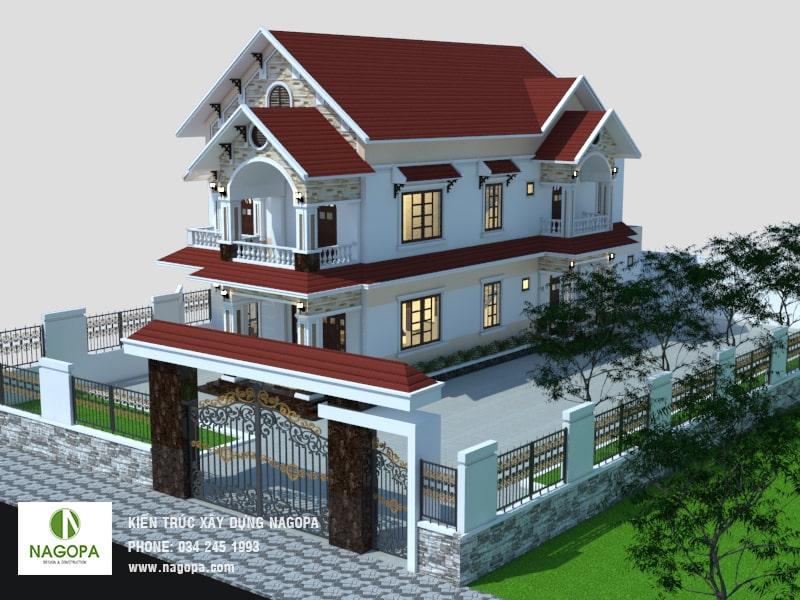 thiết kế nhà biệt thự tại đồng xoài 04