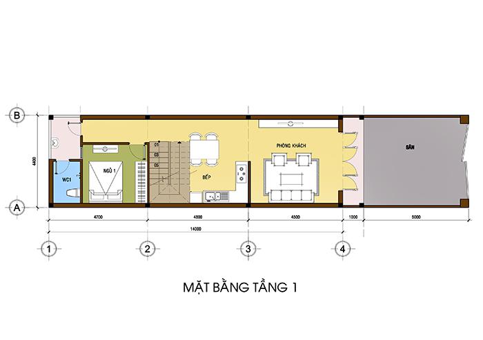 thiết kế thi công xây dựng nhà phố tại bình phước 01