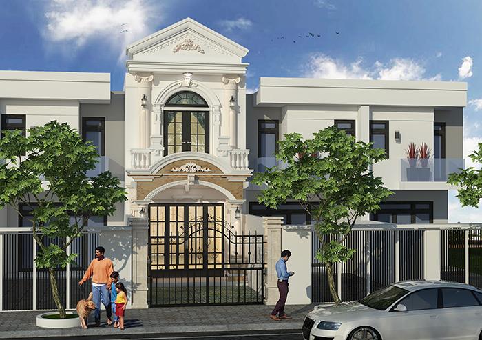 thiết kế thi công xây dựng nhà phố tại bình phước