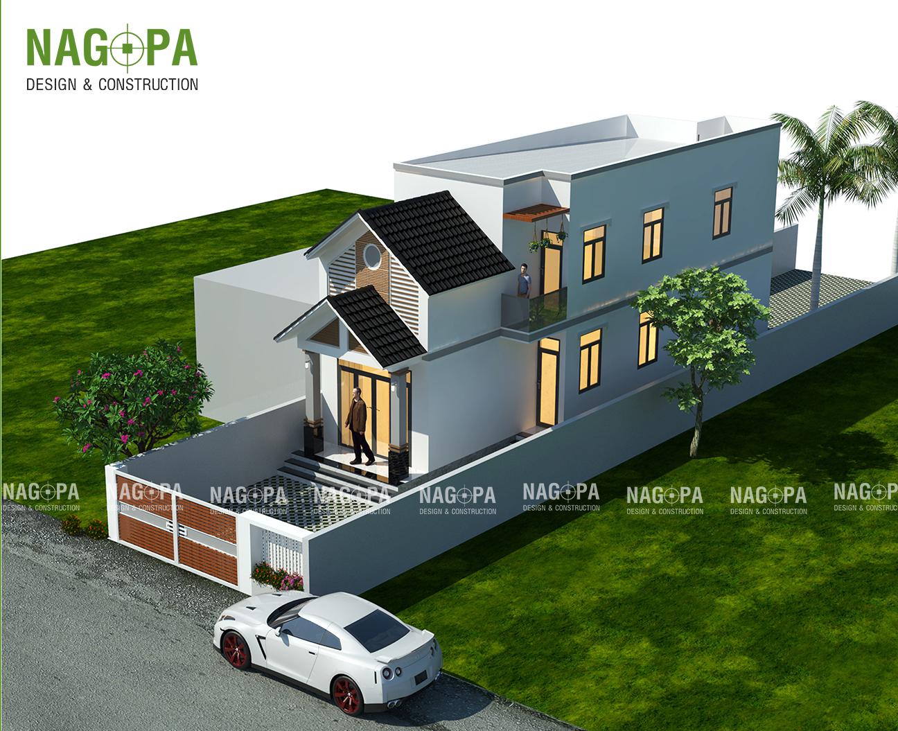 xây dựng nhà đẹp 5x20 tại đồng xoài bình phước 01