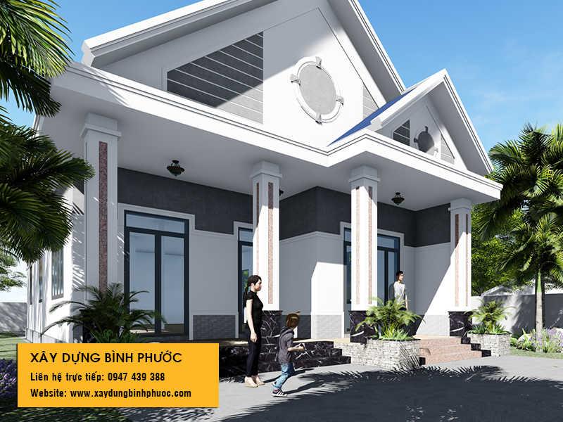 biệt thự 1 tầng chốn thôn quê tại Tân Phước Đồng Xoài 01