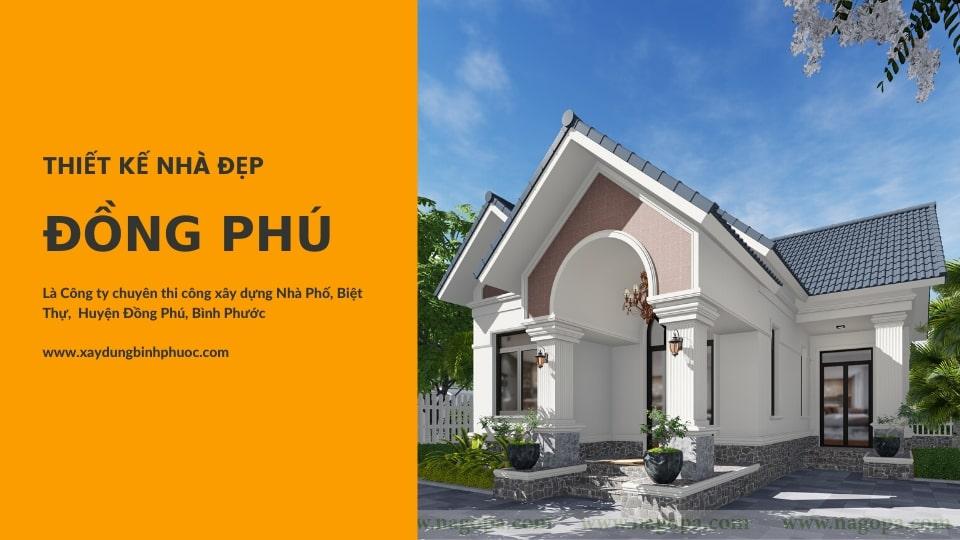 thiết kế nhà đẹp huyện đồng phú