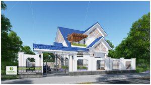 Biệt thự 2 tầng mái thái 01 (Huyện Đồng Phú) 01