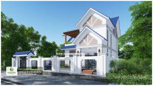 Biệt thự 2 tầng mái thái 01 (Huyện Đồng Phú) 02