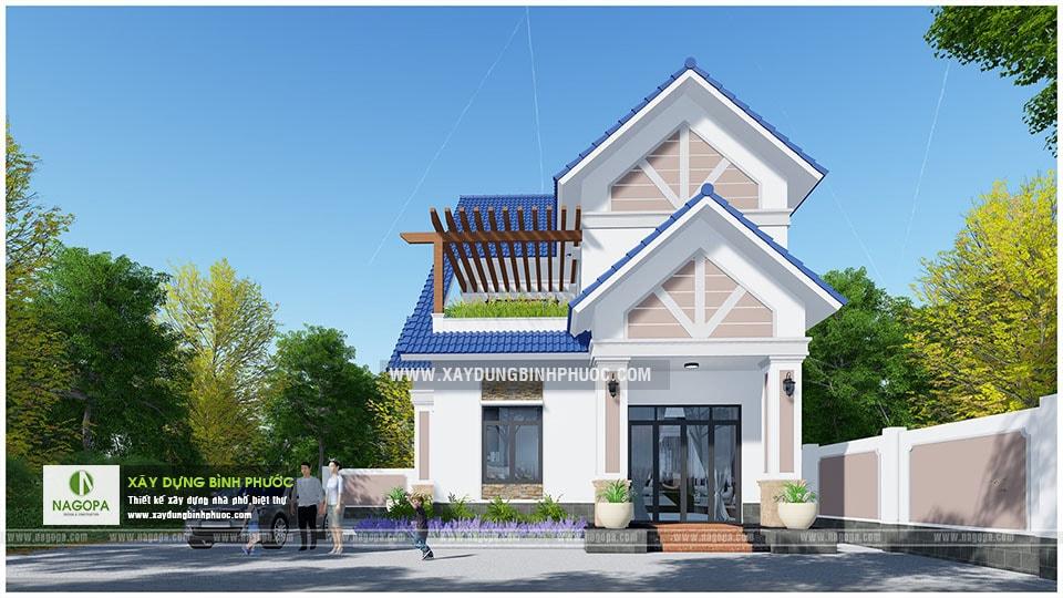 Biệt thự 2 tầng mái thái 01 (Huyện Đồng Phú) 03