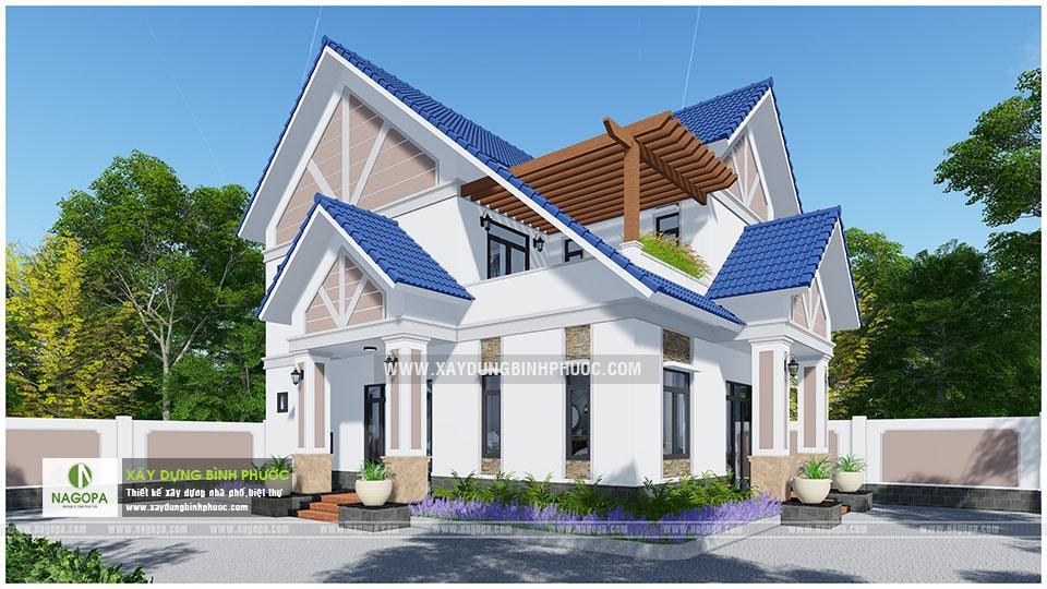 Biệt thự 2 tầng mái thái 01 (Huyện Đồng Phú) 05