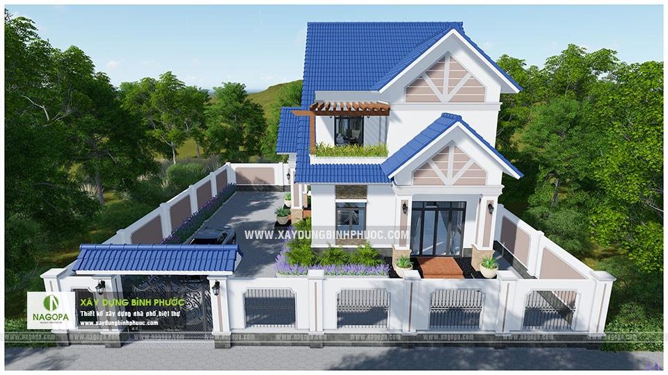 Biệt thự 2 tầng mái thái 01 (Huyện Đồng Phú) 09