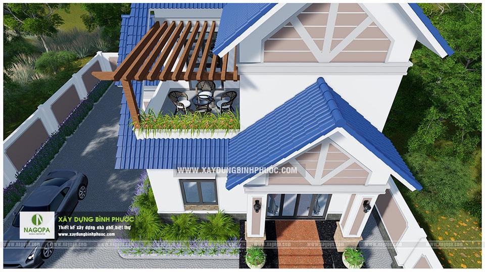 Biệt thự 2 tầng mái thái 01 (Huyện Đồng Phú) 10