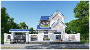 Biệt thự 2 tầng mái thái 01 (Huyện Đồng Phú)