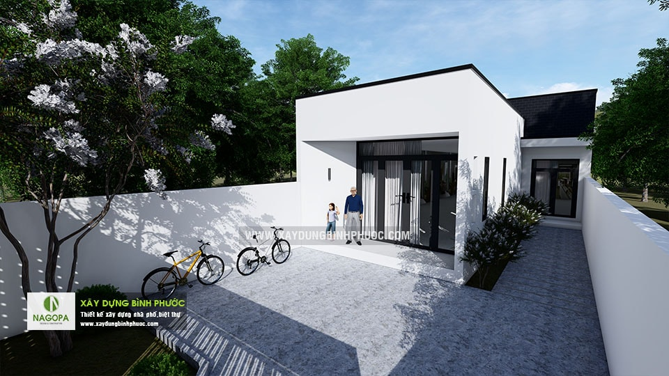 Nhà cấp 4 hiện đại 8x20m 2 Phòng Ngủ tại Bình Long 02