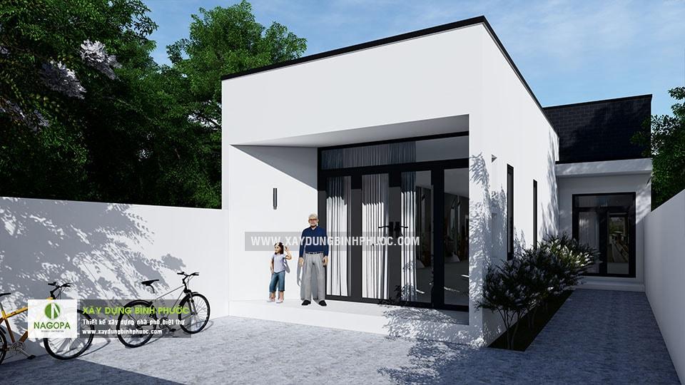 Nhà cấp 4 hiện đại 8x20m 2 Phòng Ngủ tại Bình Long 03