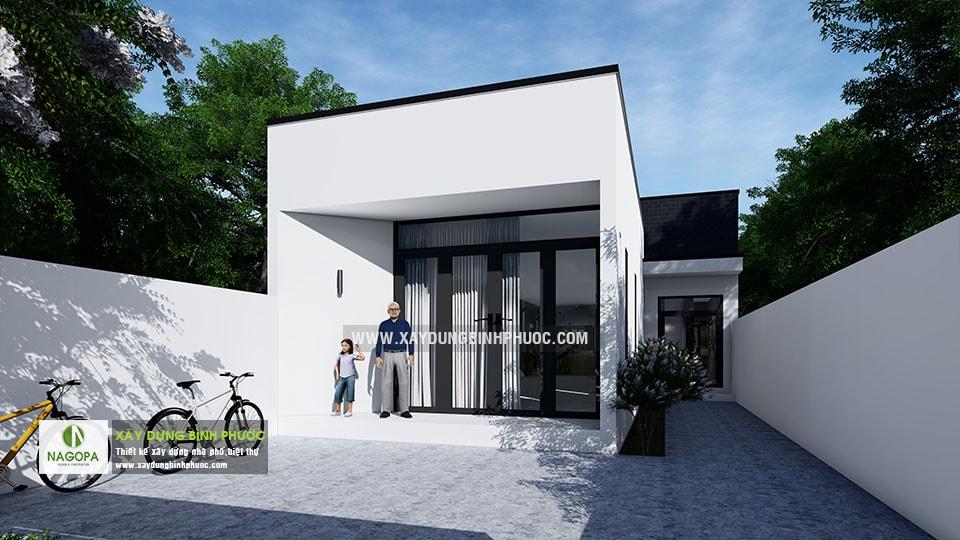 Nhà cấp 4 hiện đại 8x20m 2 Phòng Ngủ tại Bình Long 04