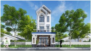 nhà phố 3 tầng 6x20m có sân thượng 001 Đồng Xoài 01