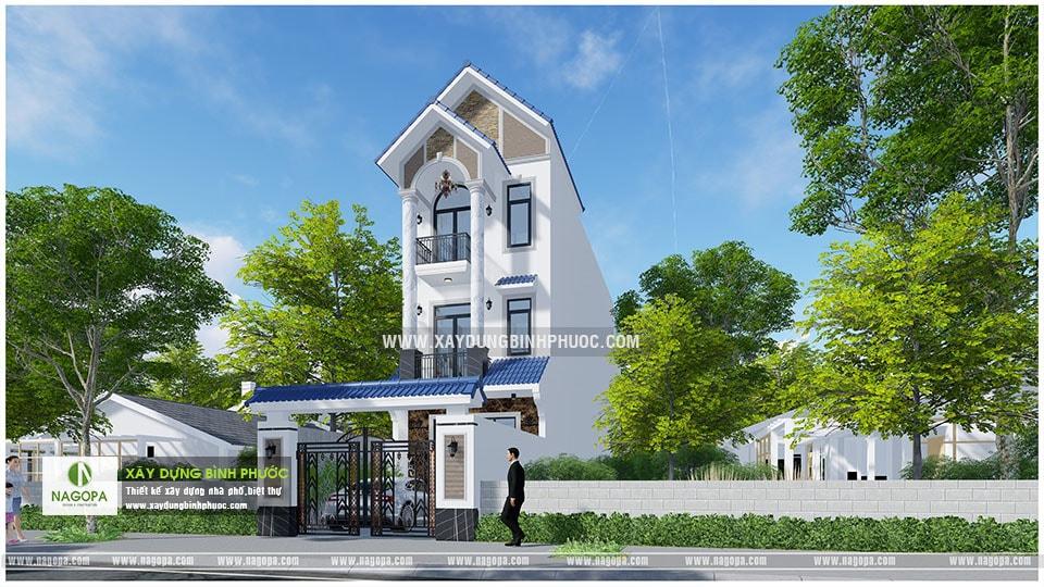 nhà phố 3 tầng 6x20m có sân thượng 001 Đồng Xoài 02