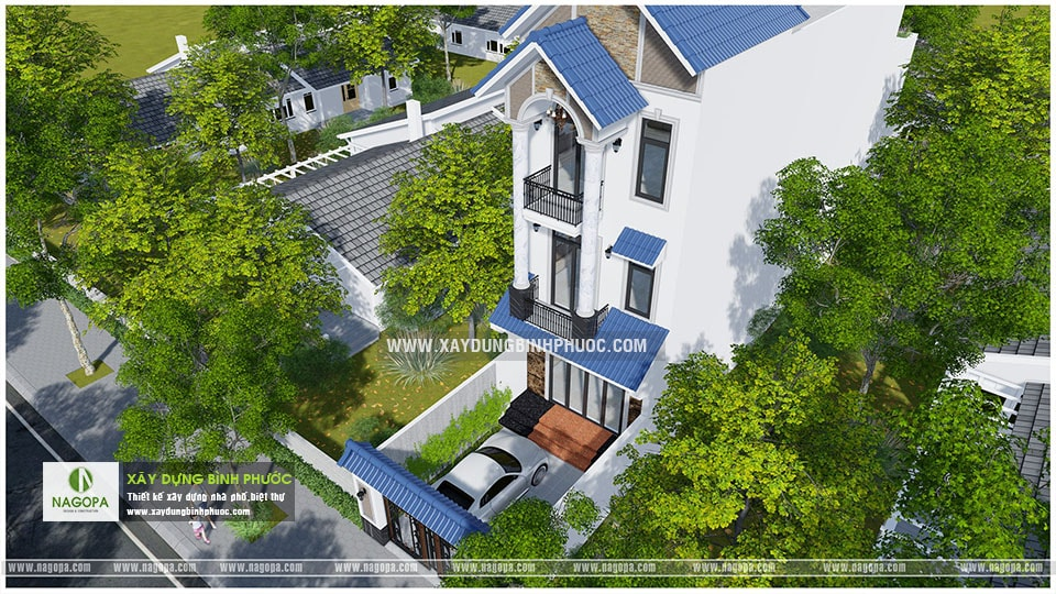 nhà phố 3 tầng 6x20m có sân thượng 001 Đồng Xoài 07
