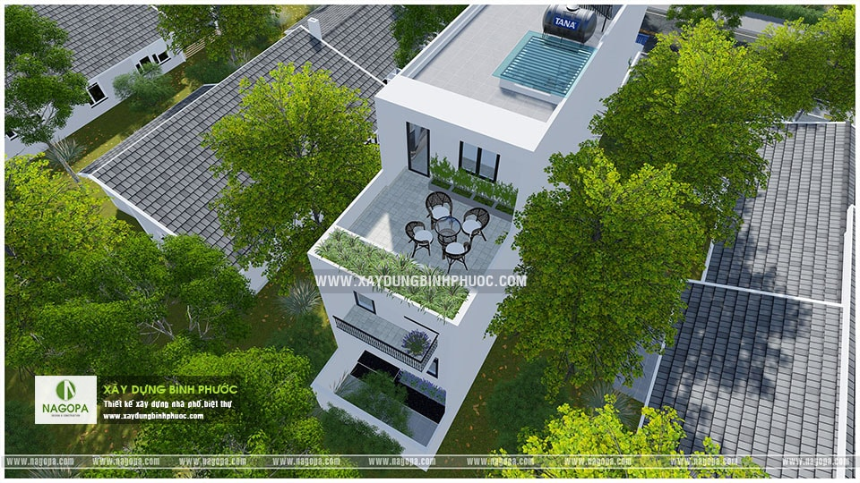 nhà phố 3 tầng 6x20m có sân thượng 001 Đồng Xoài 08