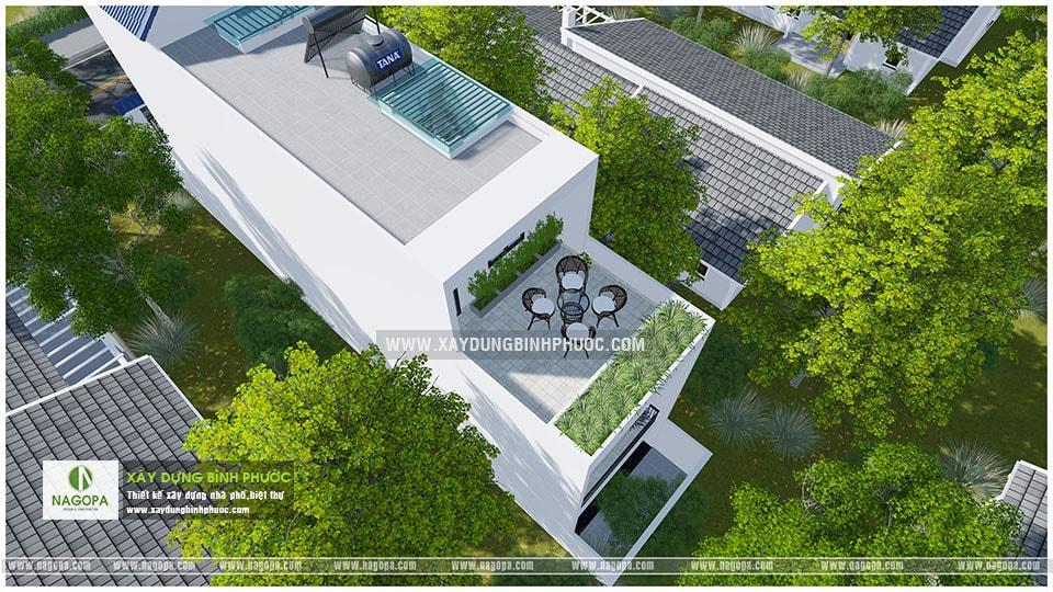 nhà phố 3 tầng 6x20m có sân thượng 001 Đồng Xoài 09