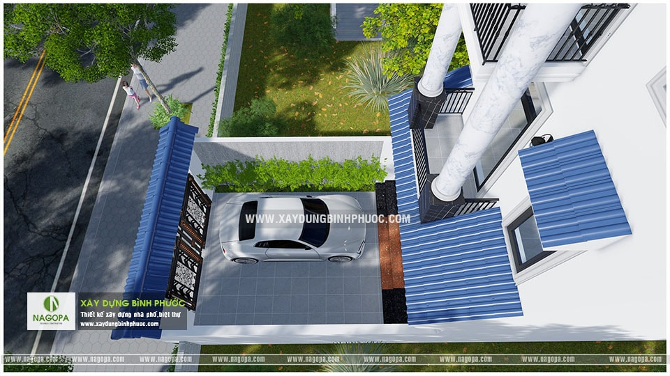nhà phố 3 tầng 6x20m có sân thượng 001 Đồng Xoài 10