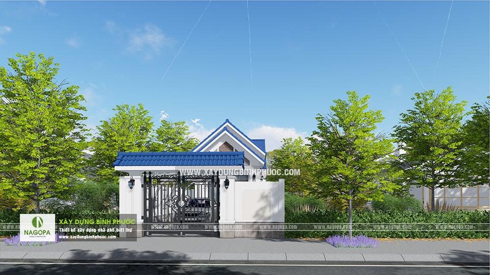 Thiết kế nhà cấp 4 mái thái 120m2 Cô Tính tại Bình Long 01