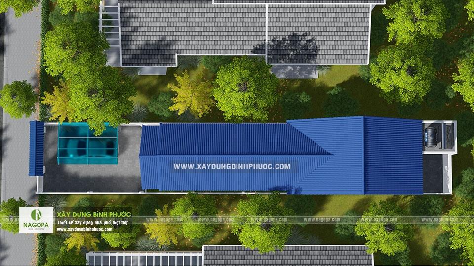 Thiết kế nhà cấp 4 mái thái 120m2 Cô Tính tại Bình Long 03