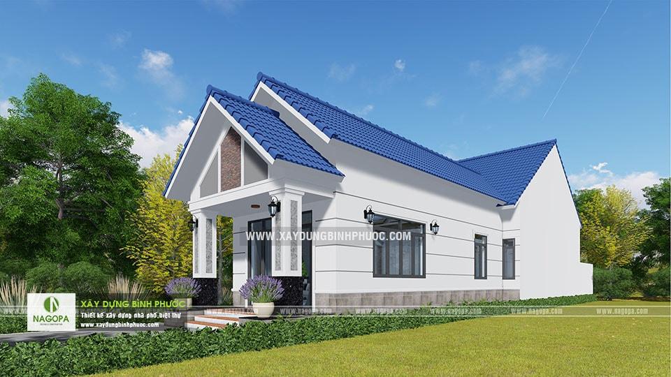 Thiết kế nhà cấp 4 mái thái 120m2 Cô Tính tại Bình Long 07