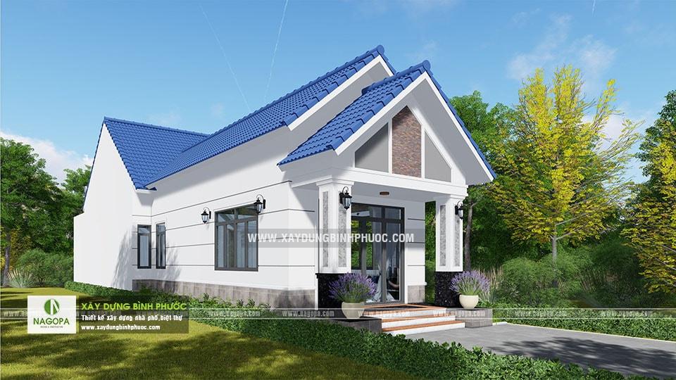 Thiết kế nhà cấp 4 mái thái 120m2 Cô Tính tại Bình Long 09