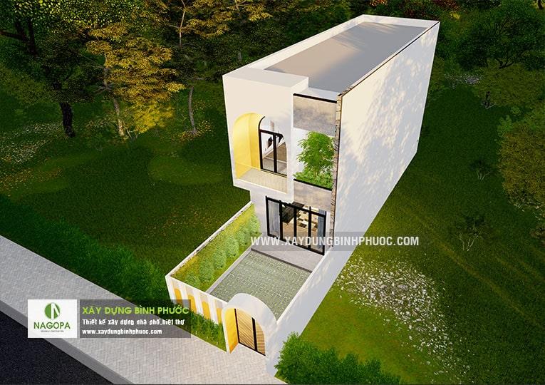 Nhà phố 2 tầng 002 diện tích 5x20m ( Đồng Xoài ) 03