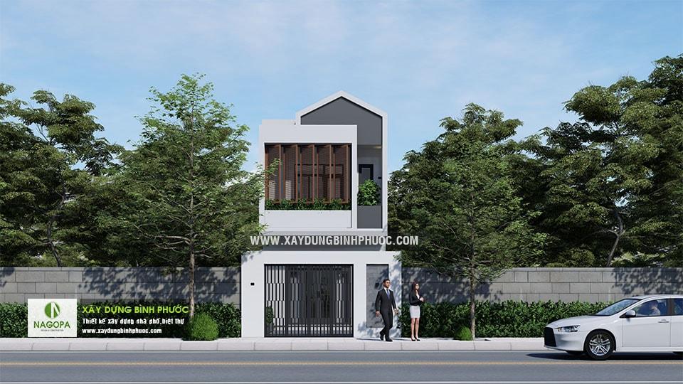 Nhà Phố 2 Tầng Diện Tích 5x24m tại Đồng Xoài