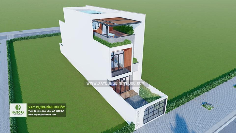 nhà phố 004 tân phú đồng xoài nhà 3 tầng có sân thượng 3