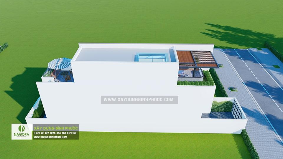 nhà phố 004 tân phú đồng xoài nhà 3 tầng có sân thượng 5