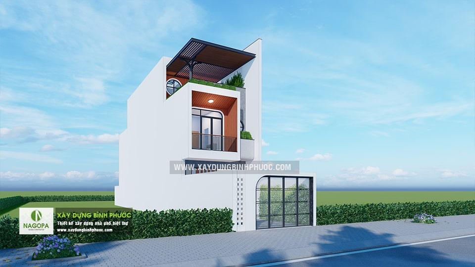 nhà phố 004 tân phú đồng xoài nhà 3 tầng có sân thượng